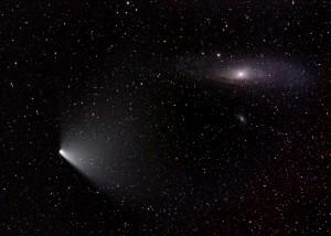 Comet C/2011 L4 Panstarrs, M31, M32, M110