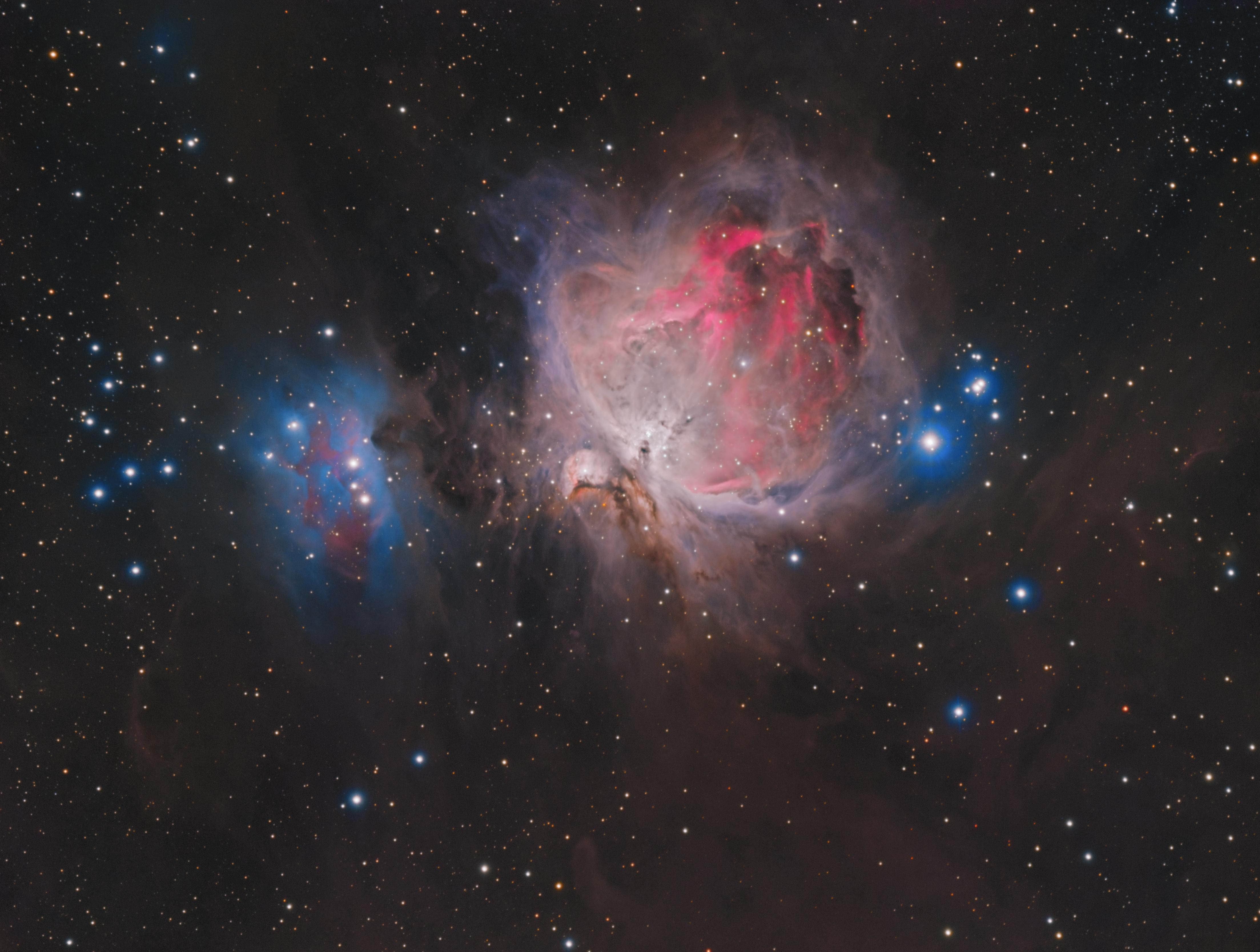 M42 in LRGB+Ha