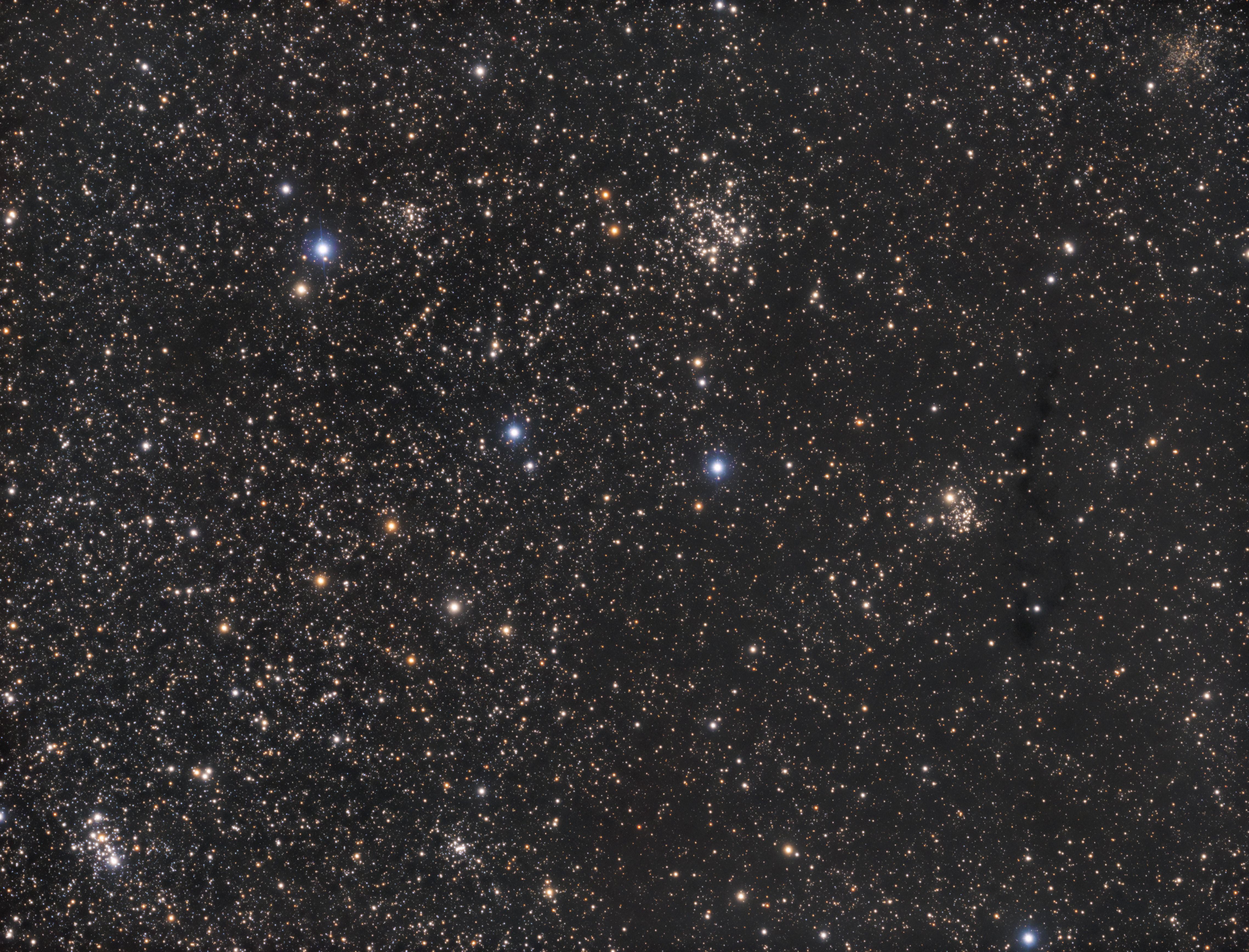 M103, NGC659, Tr1, NGC663, NGC654, LDN1334, IC166